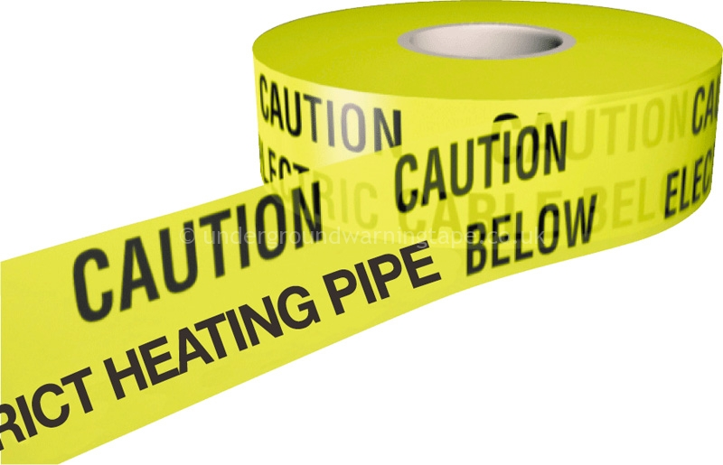 Caution District Heating Pipe Warning Tape Underground