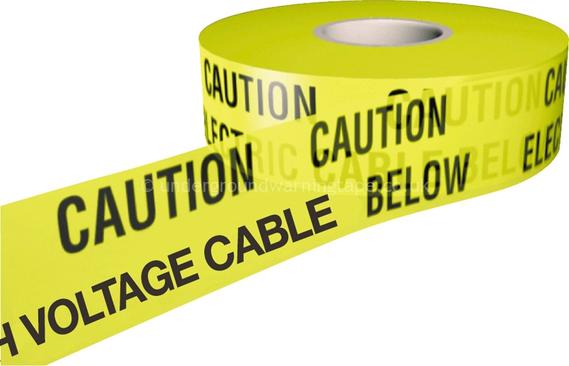 Caution High Voltage Cable Warning Tape Underground