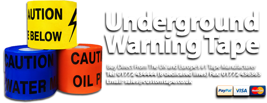 Underground Warning Tape from the UK's #1